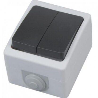 Вимикач накладний 2-клавішний АТОМ
