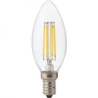 "Лампа світлодіодна ""Filament candle - 6"" 6W свічка Е14 2700К"